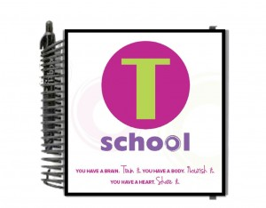 T School journal cover