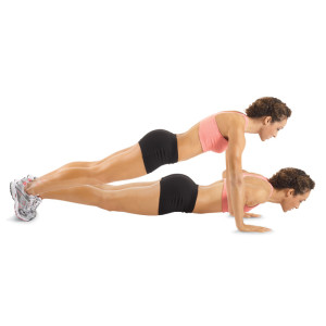woman push up